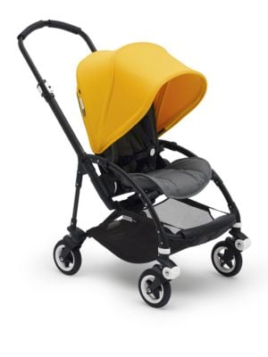 Image of For a compact and easy ride, especially on city streets, the Bugaboo Bee5 stroller features a compact fold; lightweight handling; one-hand steering; a one-hand, one-piece fold and easily attached accessories. The Bugaboo Bee5 is compact & easy, is comfort