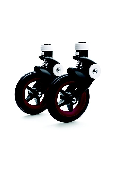 Image of Add a splash of color and individuality to your premium Bugaboo Bee5 Stroller with the Bugaboo Bee5 Wheel Caps. These plastic caps securely attach onto the stroller wheels for an eye-catching custom stroller look that reflects your sense of style. These c