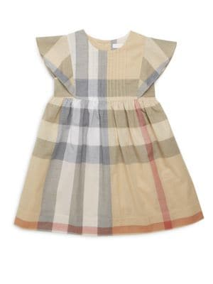 Little Girls  Girls Plaid Printed Dress