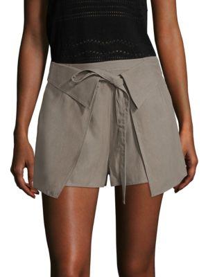 10 Crosby Twill Wrap-Front Shorts by Derek Lam 10 Crosby