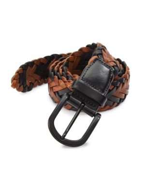 Image of EXCLUSIVELY OURS. Exquisitely crafted belt in a two-tone finish. Rayon. Made in USA.