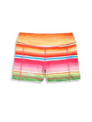 Girls Striped Knit Shorts