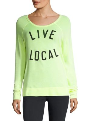 Live Local Pima Cotton-Blend Tee by SUNDRY