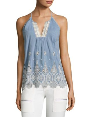 Josepe Crochet Tank Top by Joie