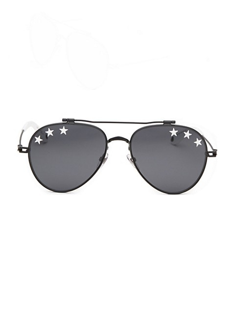 58MM Star Aviator Sunglasses