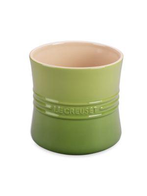 Image of Curvy Stoneware Utensil Crock