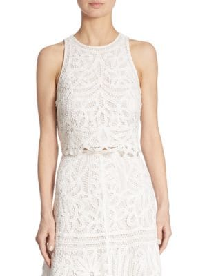 Lace Cropped Top by Polo Ralph Lauren