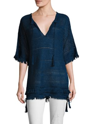 Fringed Linen Tunic by Polo Ralph Lauren