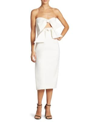 Buy MILLY Mackenzie Bow-Accented Dress online with Australia wide shipping