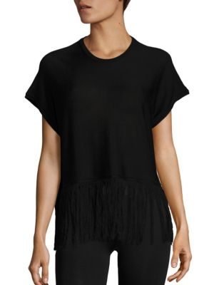 Fringed Silk Top by Sara Lanzi