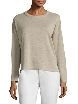 Organic Linen Knit Box Top by Eileen Fisher