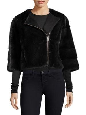 THE FUR SALON Mink Fur Jacket in Cypress