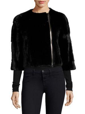 THE FUR SALON Mink Fur Jacket in Black