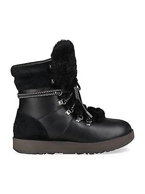 098fa6a0af53c Ugg - Viki Waterproof Shearling   Leather Boots - saks.com