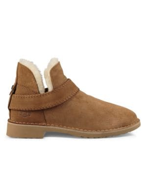 Mckay Sheepskin Lined Suede Ankle Boots