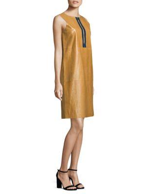 Ashby Leather Shift Dress
