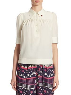 Silk Crepe Blouse by Marc Jacobs