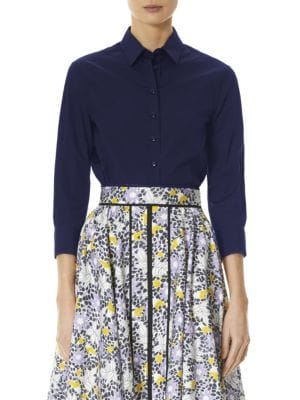 Fitted Cotton Blouse by Carolina Herrera