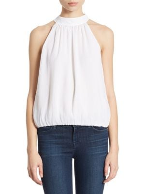 Maris Gathered Halter Top by Alice + Olivia