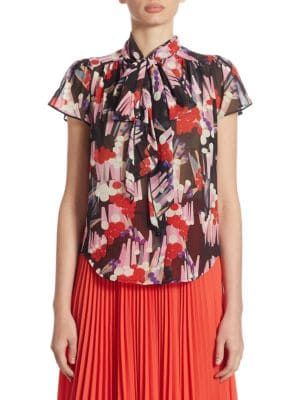 Floral-Print Silk Blouse by Marc Jacobs