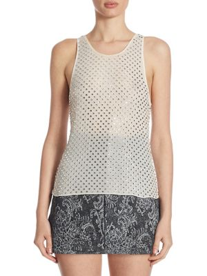 Silk Embellished Tank by Marc Jacobs