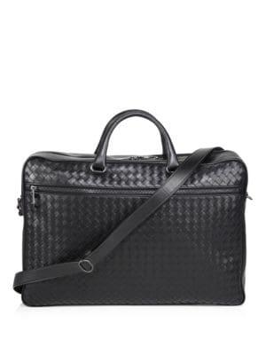 BOTTEGA VENETA Black Classic Intrecciato Briefcase