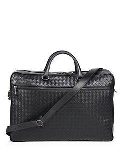 5e01ff57215 QUICK VIEW. Bottega Veneta. Nero Leather Briefcase