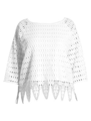 Plus Size Crocheted Blouse by joan vass