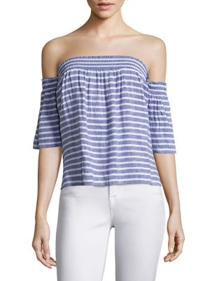 Isabelle Striped Off-The-Shoulder Top by Rails