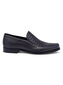 06aebea6f25 Bottega Veneta. Interwoven Leather Loafers