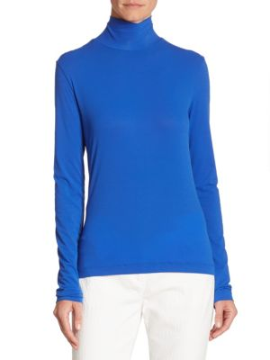Jersey Turtleneck Top by St. John