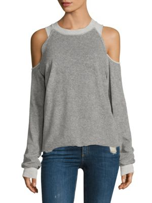 Tyler Jacobs x Feel The Piece Ambrose Cold-Shoulder Sweatshirt by Feel The Piece