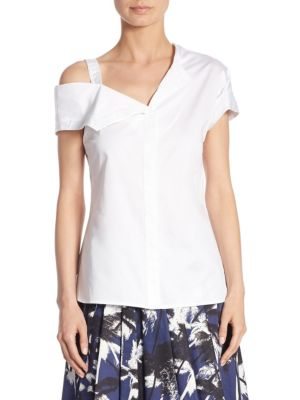 One-Shoulder Cotton Top by Jason Wu