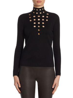 Cashmere & Silk Cutout Pullover by Akris