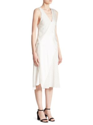 Buy Victoria Beckham Knotted Striped Silk Dress online with Australia wide shipping