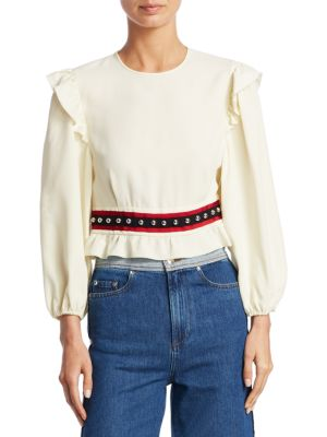 Ruffled Shoulder Top by REDValentino