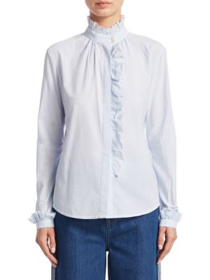 Ruffled Long-Sleeve Top by REDValentino
