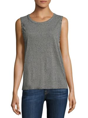 Edith Heathered Studded Muscle Tank Top by n:Philanthropy