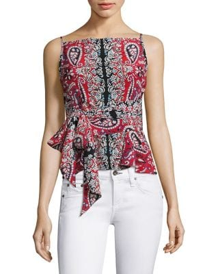 Anchors Away Silk Top by Nanette Lepore