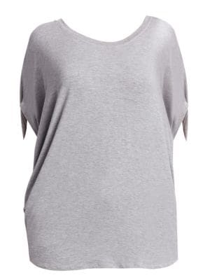 Heathered Scoopneck Top by Slink Jeans, Plus Size