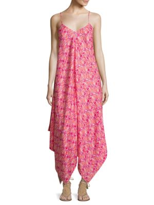 Shell-Print Handkerchief Hem Maxi Dress by Vineyard Vines