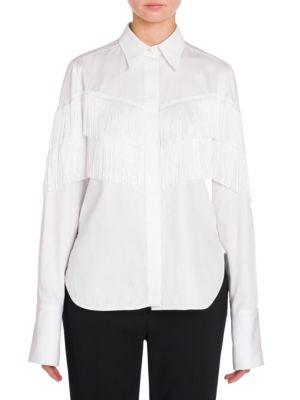 Buy Stella McCartney Alina Fringe Poplin Blouse online with Australia wide shipping