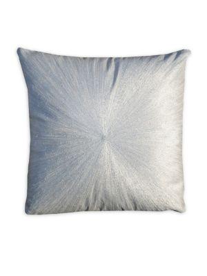 4d2a52ed4990f Callisto Home Metallic Linen Pillow. Metallic embroidery ...
