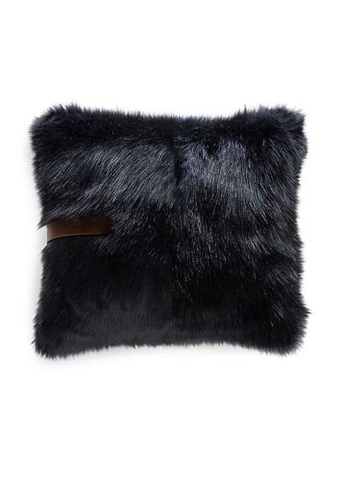 "Image of This plush faux fur pillow makes a charming accent in any space.22""W x 22""H.Cotton lining. Fill: Down/feather. Fur type: Faux. Dry clean. Imported."