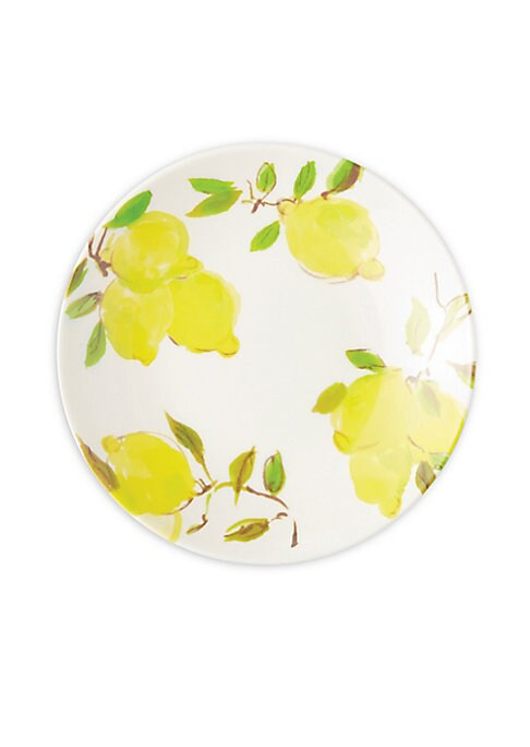 "Image of Painterly citrus-themed BPA, phthalate, and lead-free plates are sure to adorn your already stylish diner setting.6""x6""x0.75"".Melamine. Dishwasher safe. Imported."