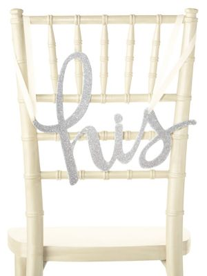 Kate Spade New York His Hers Chair Signs