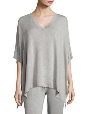 V-Neck Asymmetrical Hem Poncho by Beyond Yoga