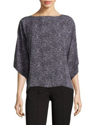 Leopard-Print Silk Top by Michael Kors Collection