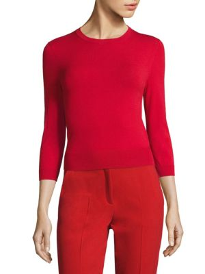Three Quarter Sleeve Pullover by Michael Kors Collection