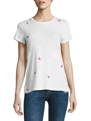 Cherries Embroidered Boy Tee by SUNDRY